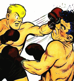 Joe Palooka landing a punch