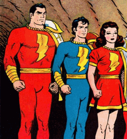 Capt Marvel, Capt Marvel Jr and Mary Marvel