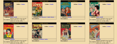 A screenshot of a comicmark page