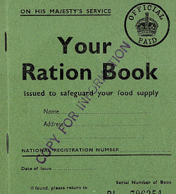 A WWII ration book