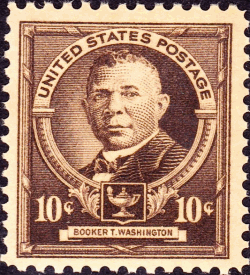 A Booker T. Washington Postage Stamp