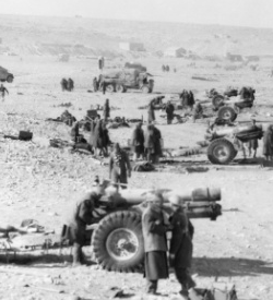 Howitzers firing in Tobruk
