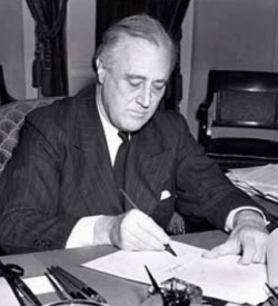 Roosevelt Signs The Lend Lease Bill