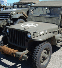 A Willys MB U.S. Army jeep