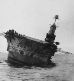 HMS Ark Royal sinking