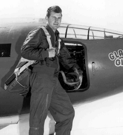 Chuck Yeager with the original Bell X-1