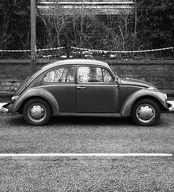 An early VW Beetle