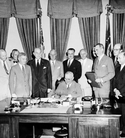 North Atlantic Treaty being signed