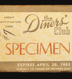 A vintage Diners Club Card