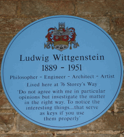 Ludwig Wittgenstein Blue Plaque