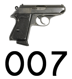 007 and a Walther PPK