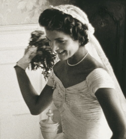 Jackie Kennedy on her wedding day