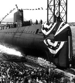 USS Nautilus the first nuclear-powered submarine