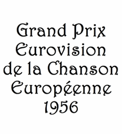 Logo for the Eurovision Song Contest 1956