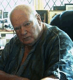 Photograph of Patrick Moore in old age