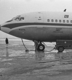 A Boeing 707 on the runway