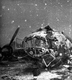 Wreckage from the Munich Air Disaster