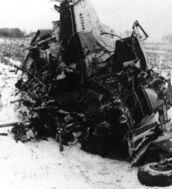 The Wreckage of Buddy Holly's plane