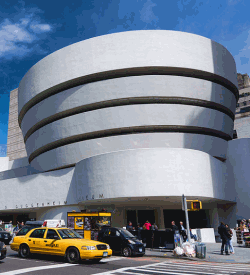 The outside of the Guggenheim Museum
