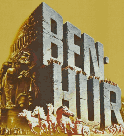 Part of a poster for Ben-Hur