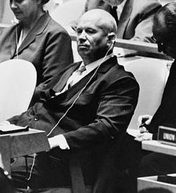 Nikita Khrushchev Speaking at the United Nations