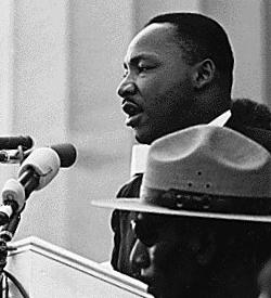 Martin Luther King Making I Have A Dream Speach
