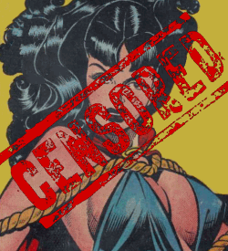 Phantom Lady with censored stamped on her