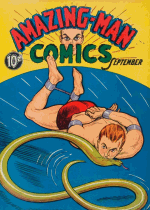 Cover For Amazing Man Comics