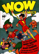 Cover For Wow Comics
