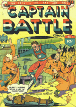 Cover For Captain Battle Comics