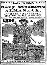 Cover For Davy Crockett's Almanack