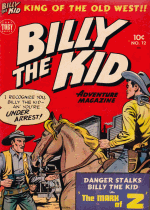 Cover For Billy the Kid Adventure Magazine