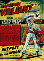 Cover For Space Comics (Captain Valiant)