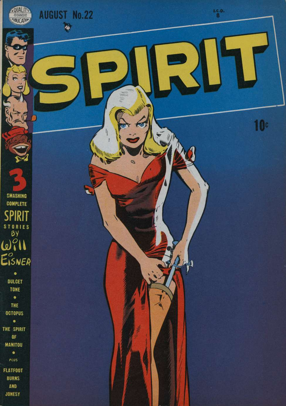 Comic Book Cover For The Spirit #22