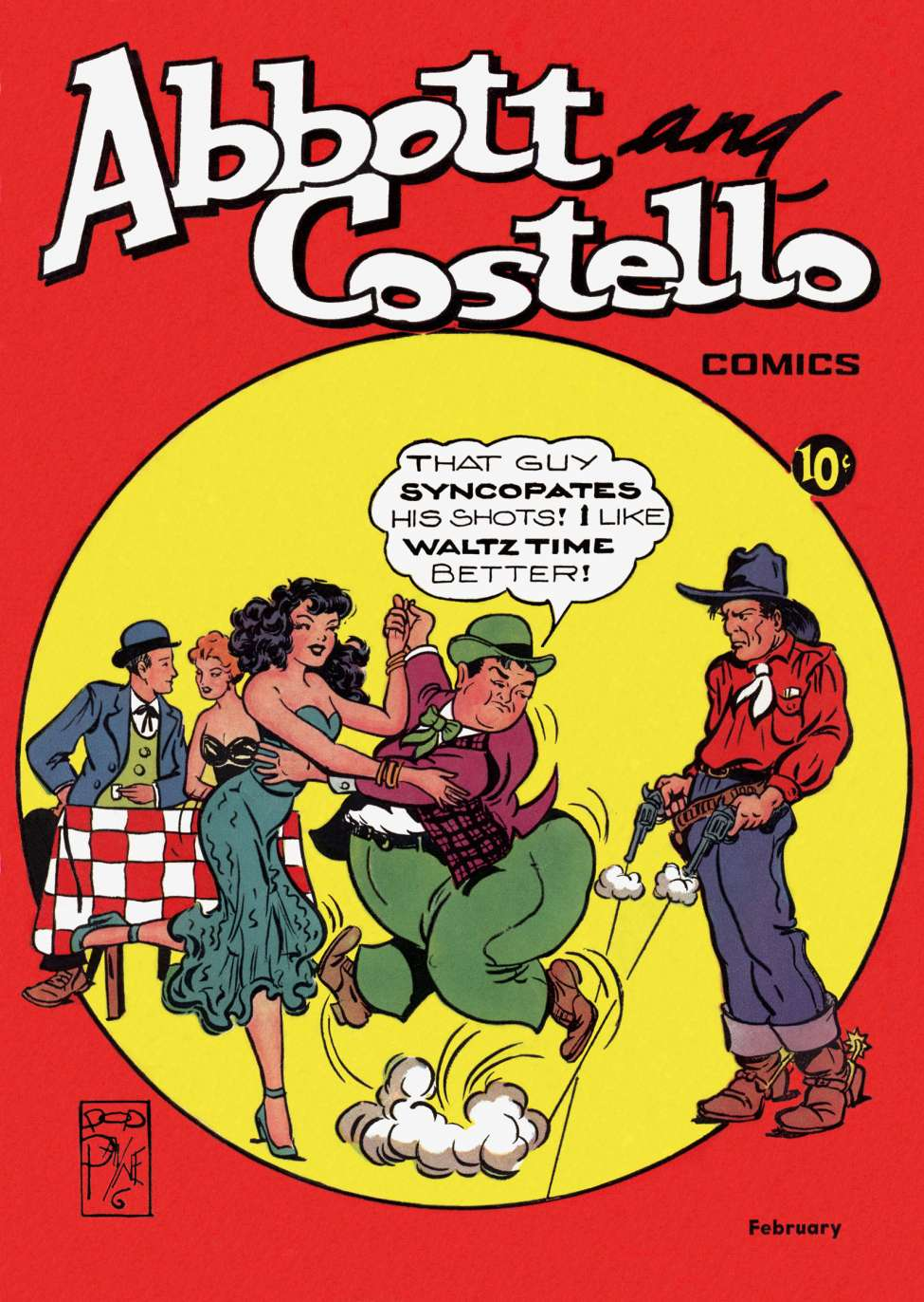 Comic Book Cover For Abbott and Costello Comics #12