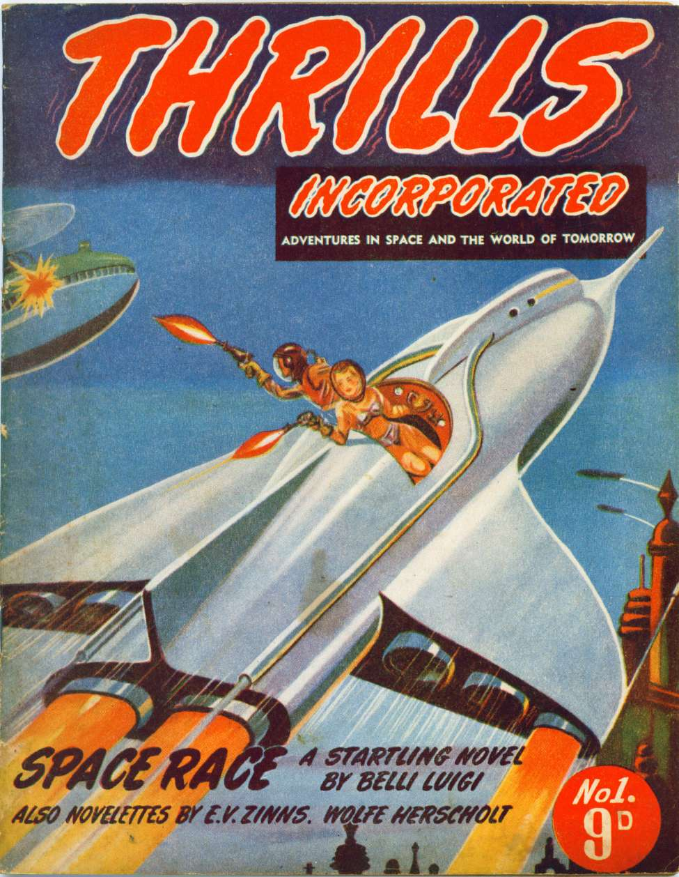 Comic Book Cover For Thrills Incorporated 01 - Space Race - Belli Luigi