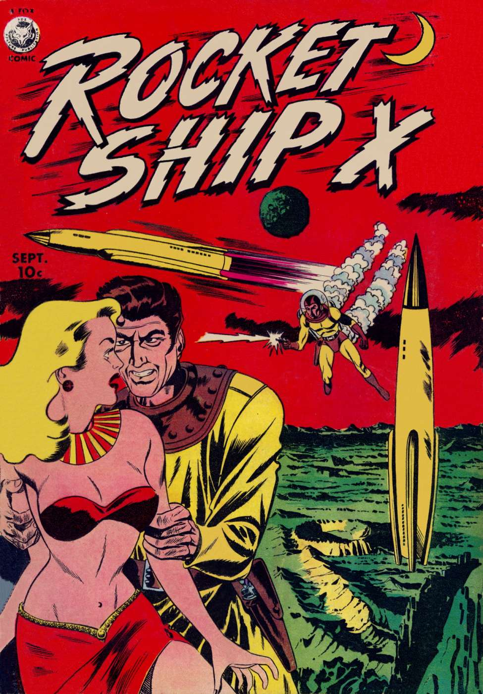 Comic Book Cover For Rocket Ship X #1