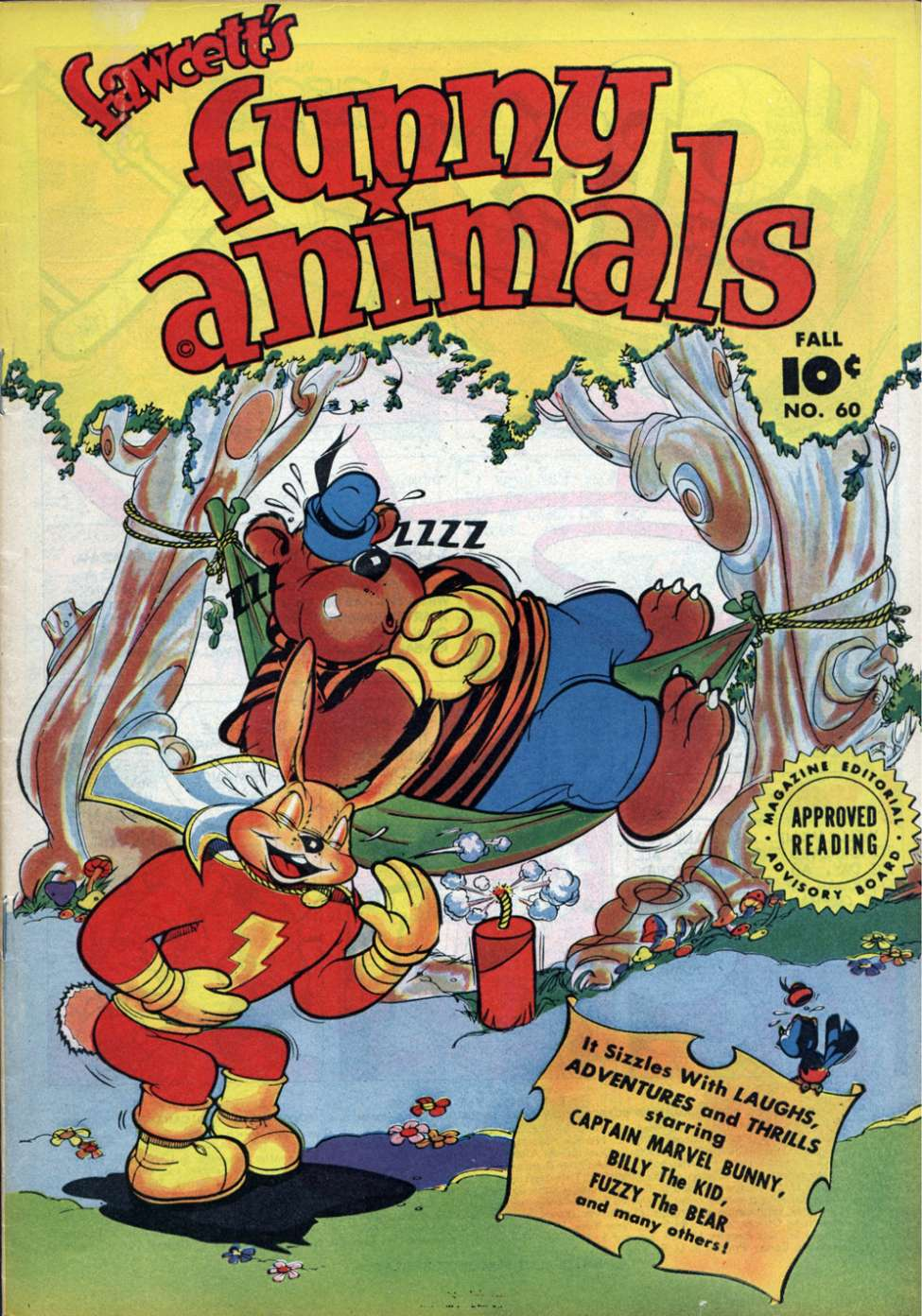Comic Book Cover For Fawcett's Funny Animals #60