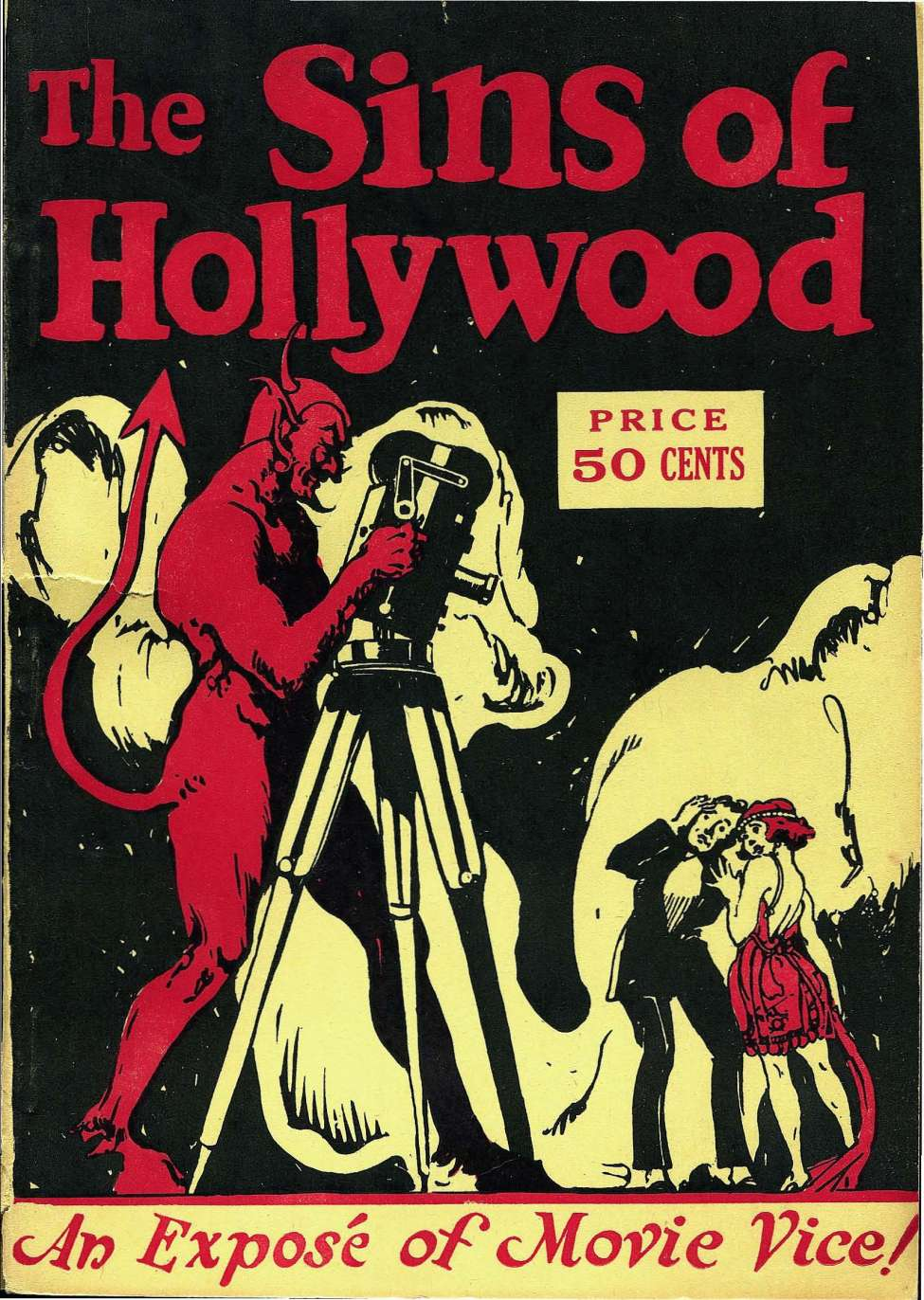 Comic Book Cover For The Sins of Hollywood
