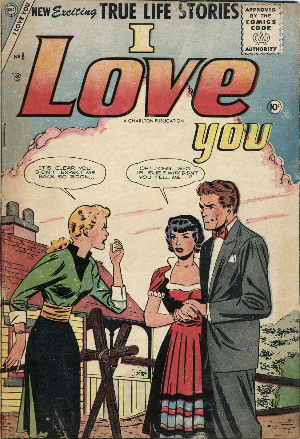 Comic Book Cover For I Love You #8