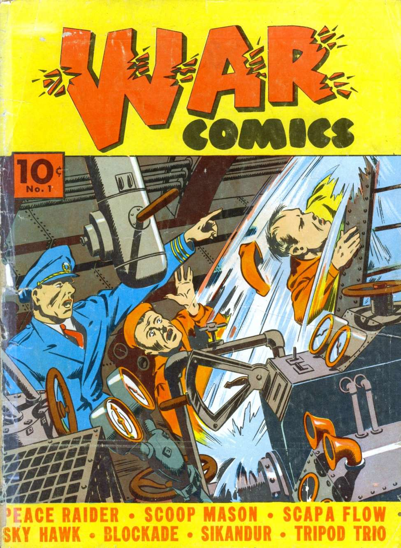 Comic Book Cover For War Comics #1