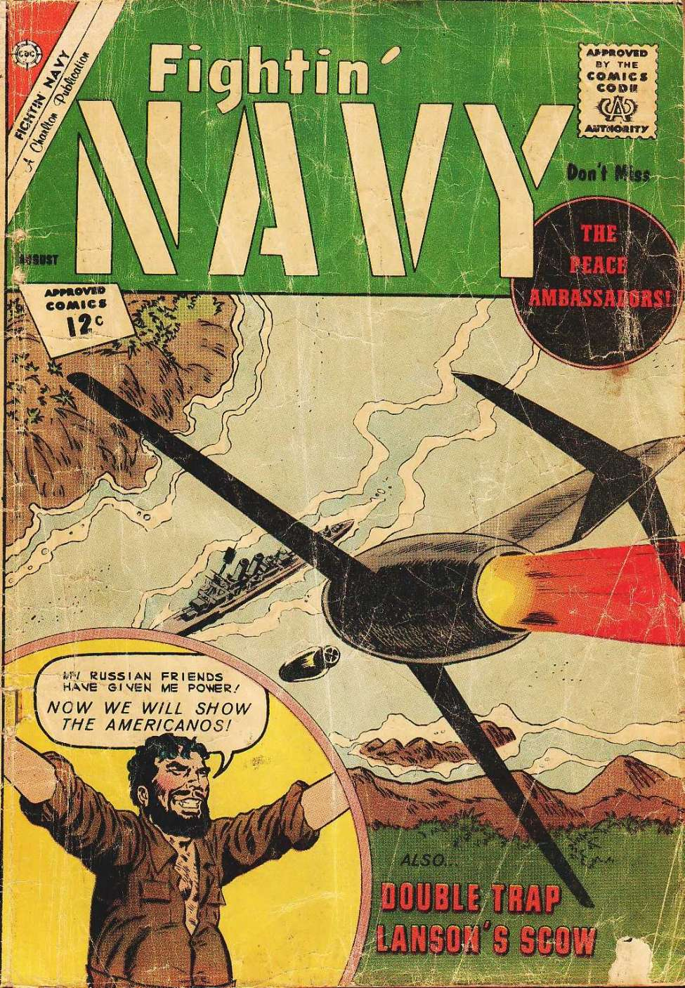 Comic Book Cover For Fightin' Navy #105