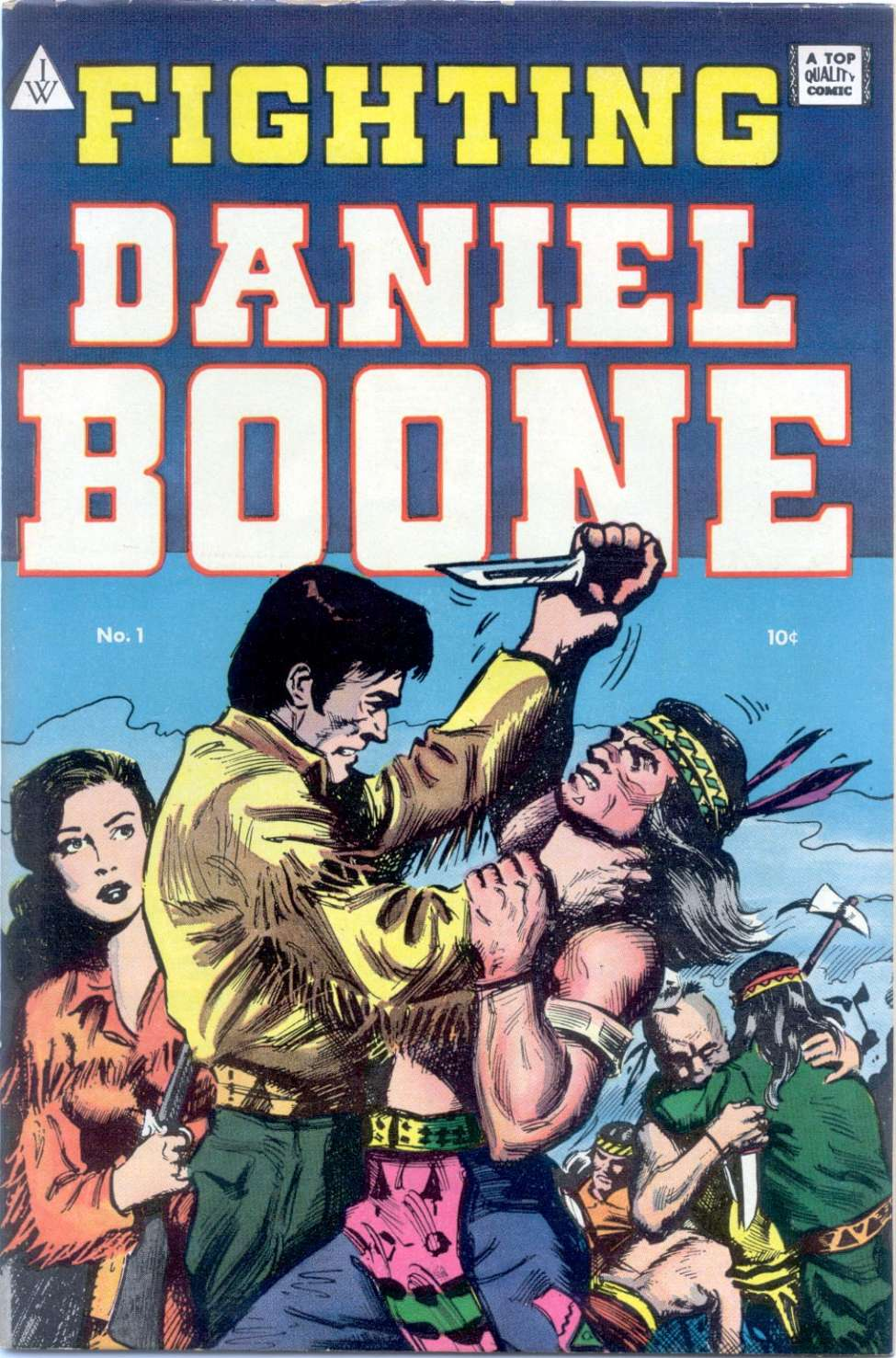 Comic Book Cover For Fighting Daniel Boone 1
