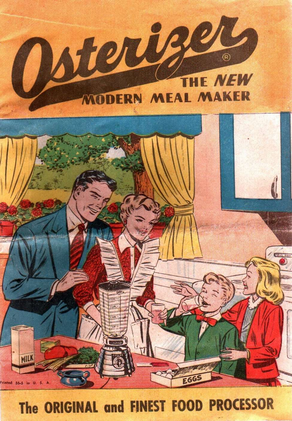Modern Book Cover Generator : Osterizer the new modern meal maker nn comic book plus