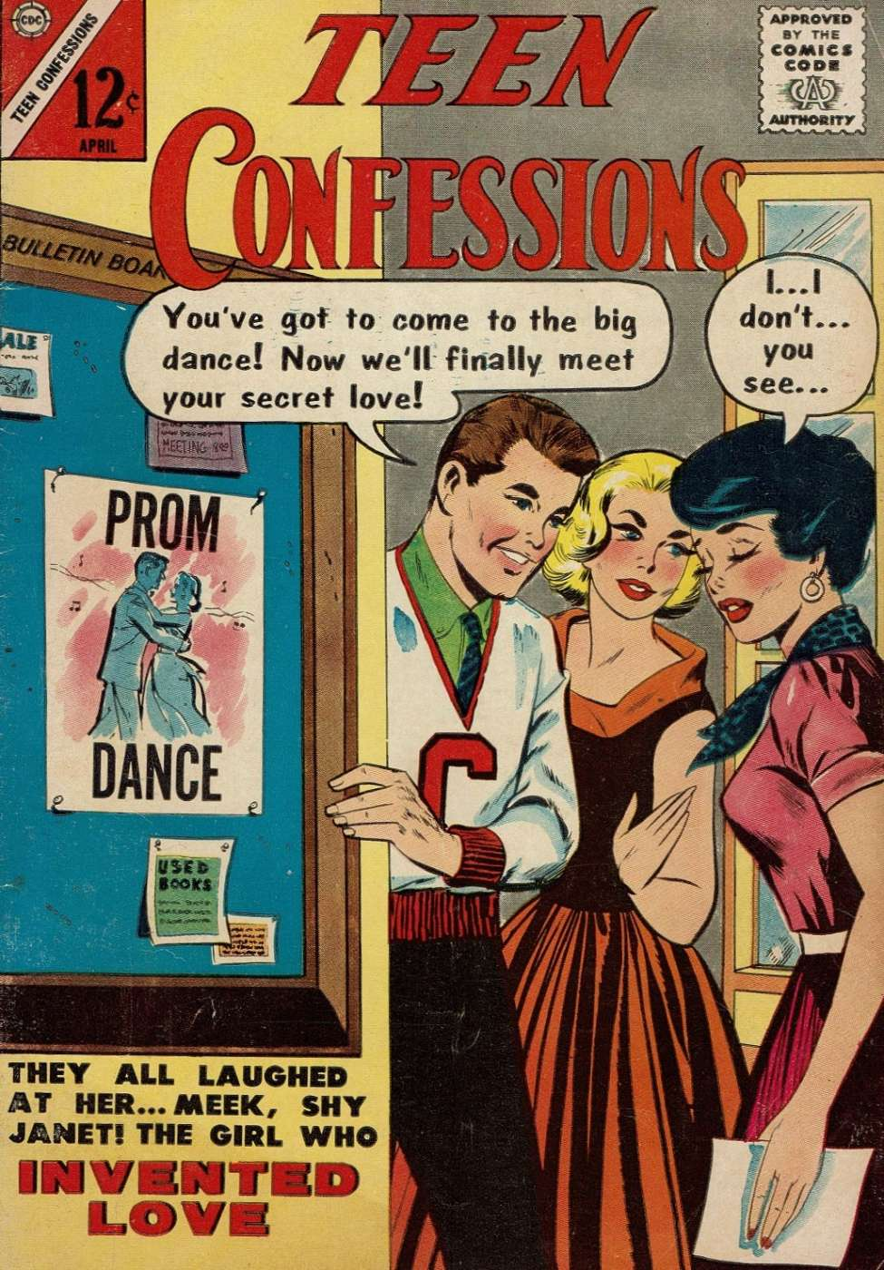 Comic Book Cover For Teen Confessions #22