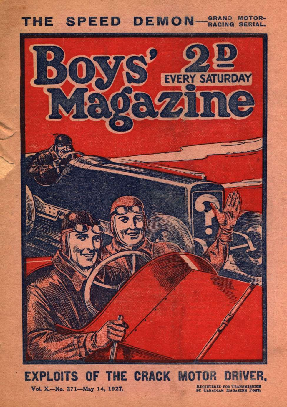 Comic Book Cover For Boys' Magazine 271