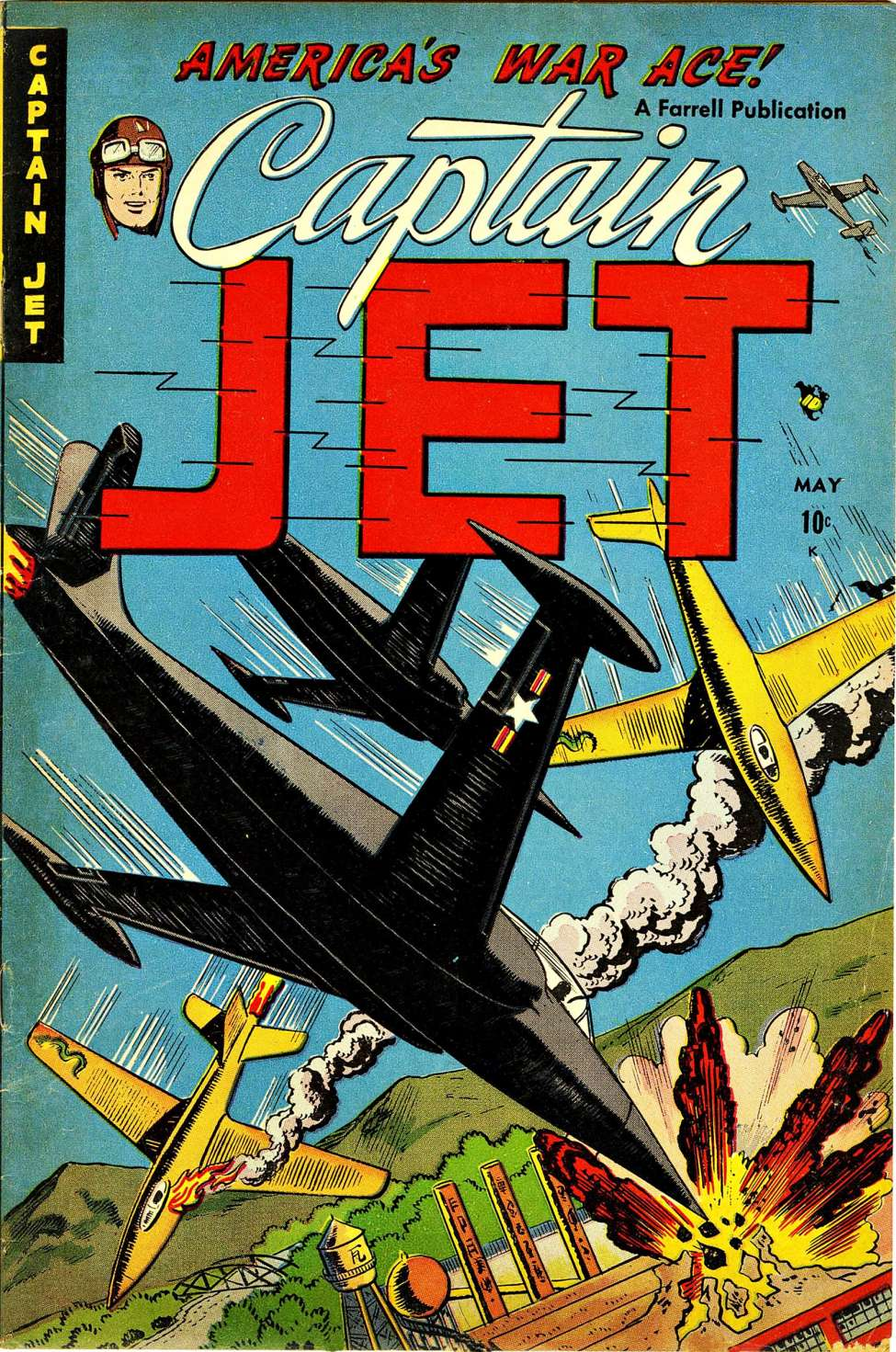 Comic Book Cover For Captain Jet #1