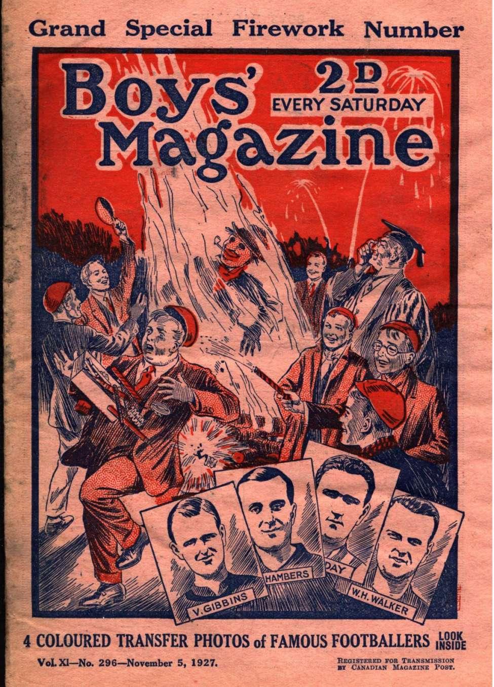 Comic Book Cover For Boys' Magazine 296