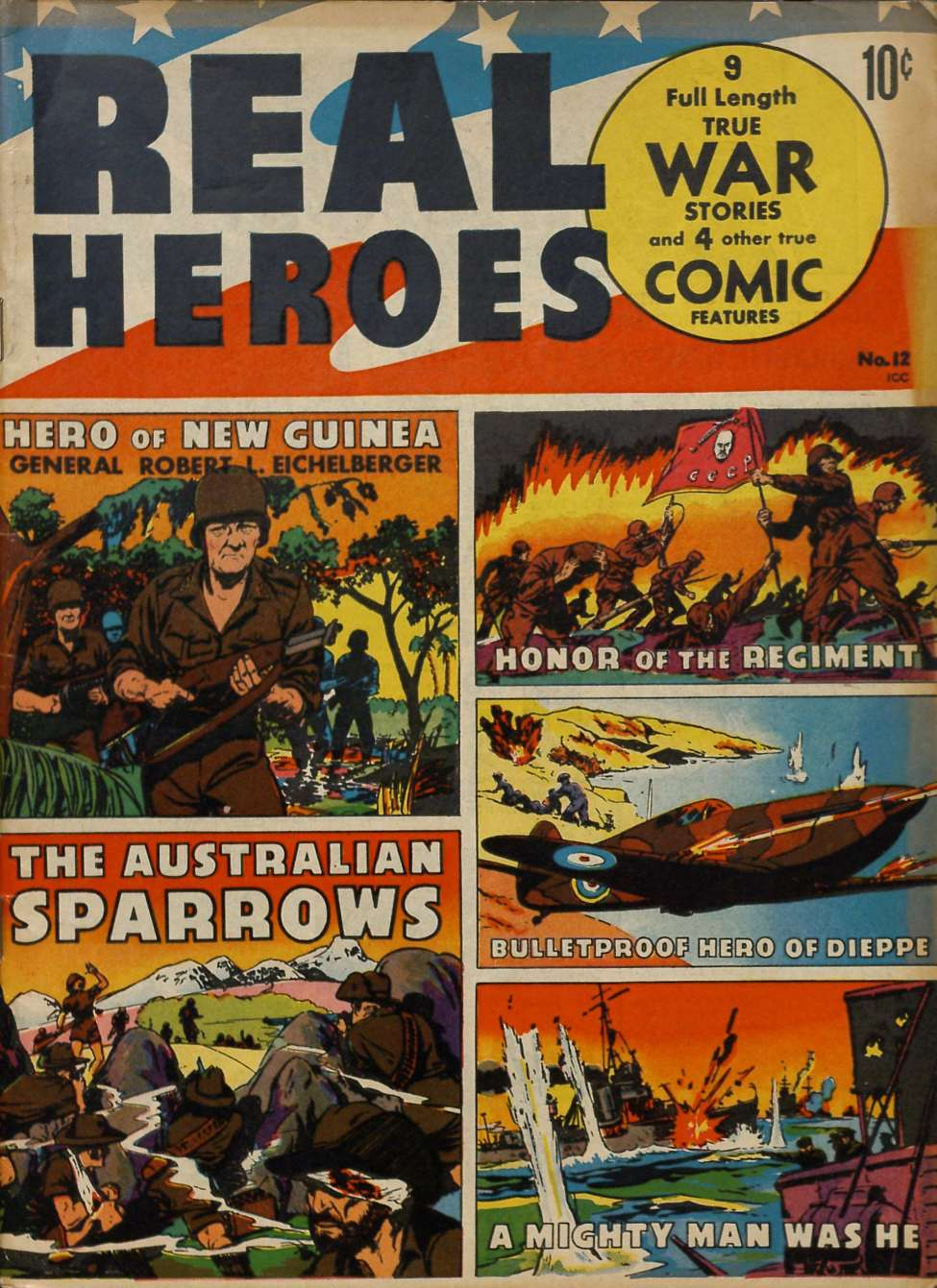 Comic Book Cover For Real Heroes #12