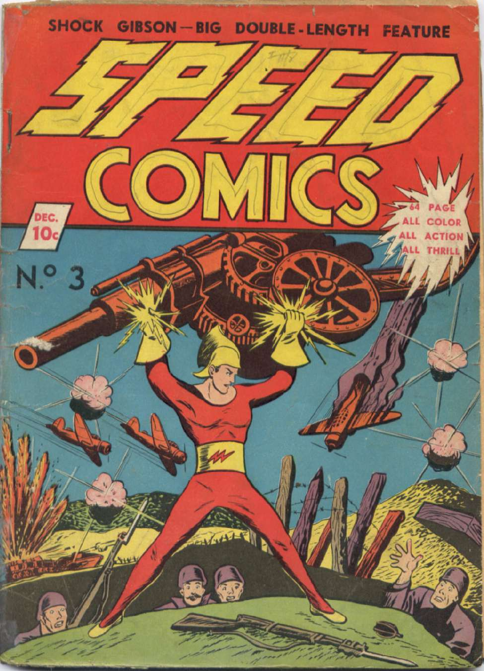 Comic Book Cover For Speed Comics #3
